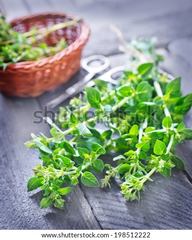 oregano and thyme