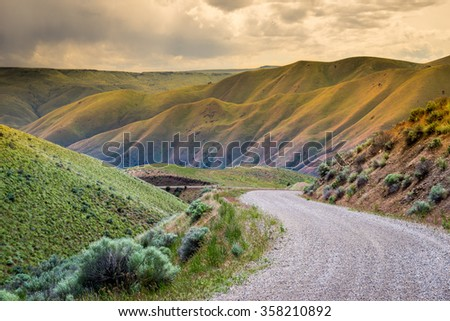 Oregon, Baker County, Lookout Mountain rd - stock photo