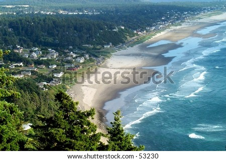 Oregon coastline - stock photo