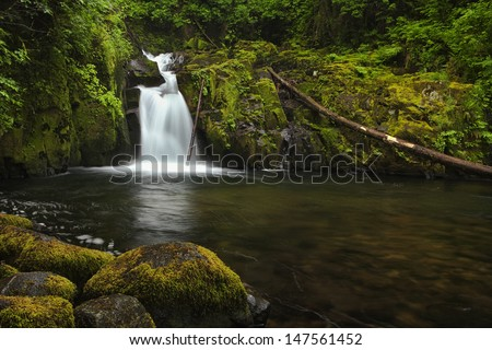 Oregon's Sweet Creek Falls - stock photo