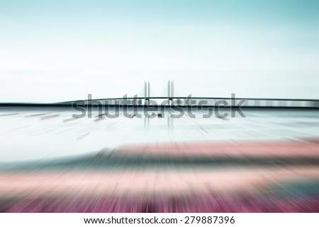 oresunds bridge ,abstract bridge background - stock photo