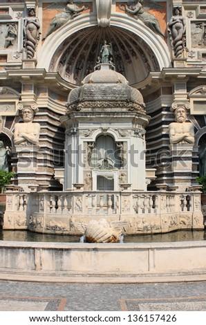 Organ Fountain in Villa Este of Tivoli, Italy - stock photo