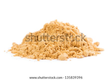 Organic and tasty raw ginger spice on white background, - stock photo