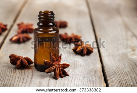 Organic anise essential oil - stock photo