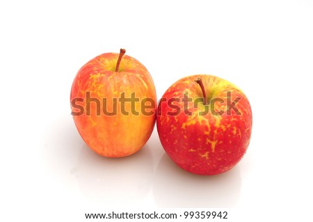 Organic apples isolated on a white background