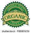 organic badge - label (stamp) - stock photo
