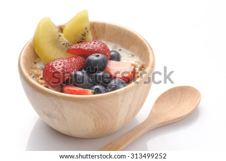 Organic breakfast - stock photo