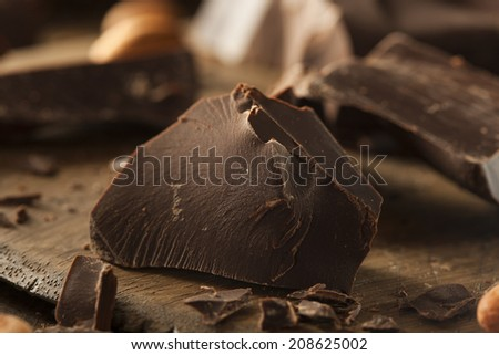 Organic Dark Chocolate Chunks Ready for Baking - stock photo