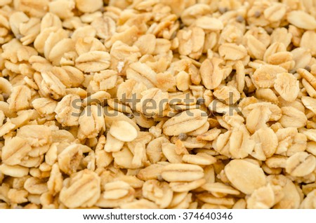 Organic Granola Cereal with oats - stock photo