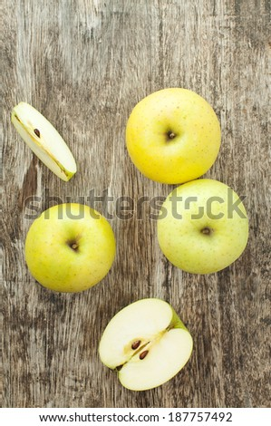 organic green apples  - stock photo