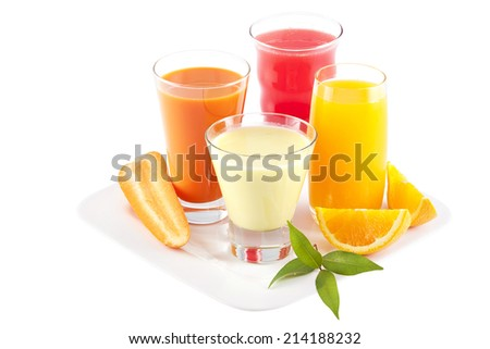 Organic healthy Fruits juice on background