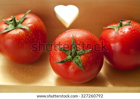 Organic healthy tomatoes - stock photo