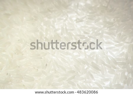 Organic jasmine white rice with background light.