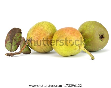 Organic pear on a white background