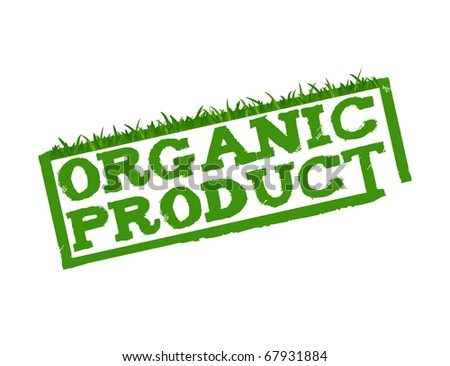 Organic Product sign isolated in white. - stock photo