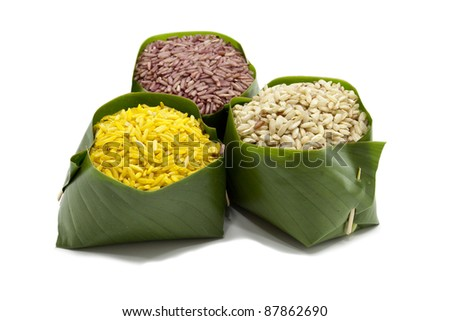 Organic rice - stock photo