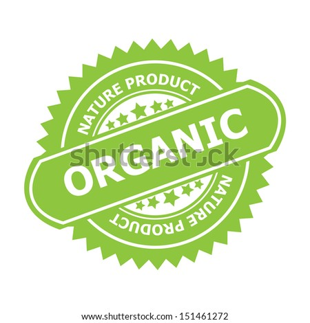 Organic rubber stamp sign.-jpg format