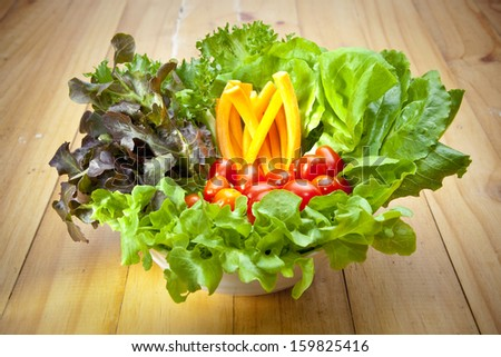 organic vegetable salad - stock photo