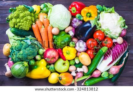 Organic vegetables. - stock photo