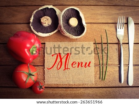 Organic Vegetarian Menu Template - stock photo