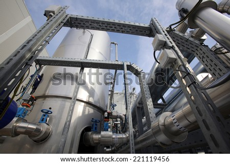 Organic waste plant from outside. - stock photo
