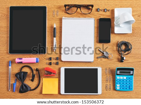 Organized Data  - stock photo