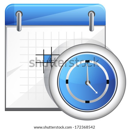 Organizer with Clock - stock photo