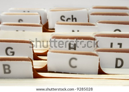 Organizing Contacts - stock photo
