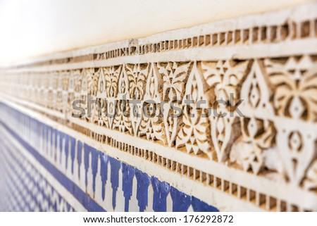 Oriental architecture detail, Morocco - stock photo