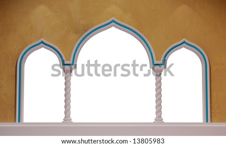 oriental archway - stock photo
