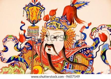 oriental art - stock photo