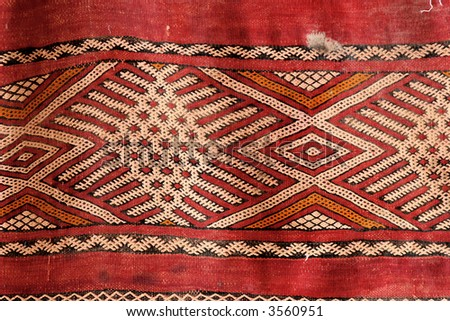 Oriental carpet background - stock photo
