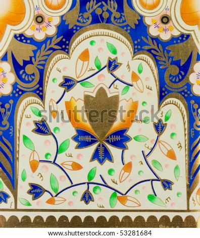 Oriental colorful texture - stock photo