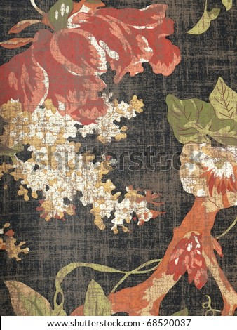 oriental decorative floral background. More of this motif & more florals in my port. - stock photo