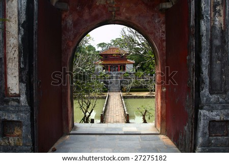 Oriental Gate - stock photo