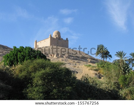 Oriental house on the shore of river Nile,  Egypt - stock photo