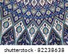 Oriental mosaic inside of the Grand Mosque, Muscat Sultanate of Oman - stock photo