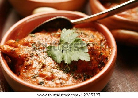 Oriental pakistan food at the restaurant - stock photo