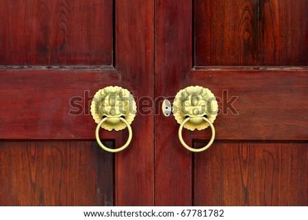Oriental Palace's with door knocker - stock photo