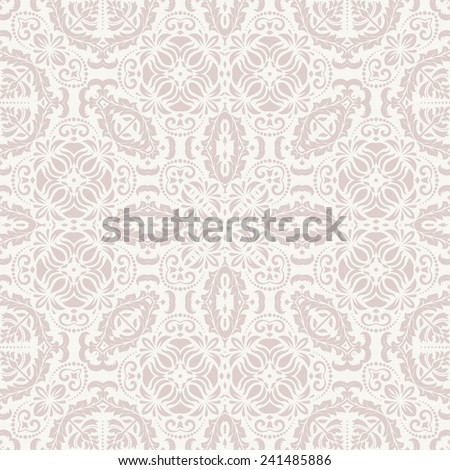 Oriental  pattern with damask, arabesque and floral elements. Seamless abstract background - stock photo