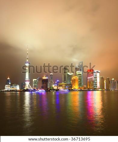 Oriental Pearl Tower, Shanghai chian. - stock photo