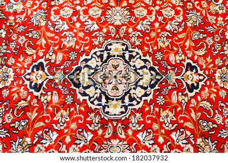 Oriental Persian Carpet Texture - stock photo