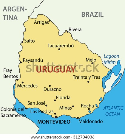 Oriental Republic of Uruguay - map