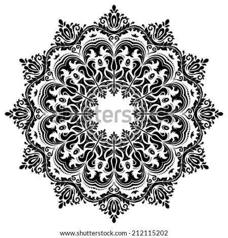 Oriental seamless  pattern with damask, arabesque and floral elements. Abstract background - stock photo
