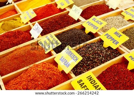 oriental spices - stock photo