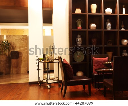 Oriental style interior - stock photo