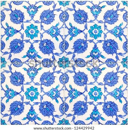 Oriental Tiles - stock photo