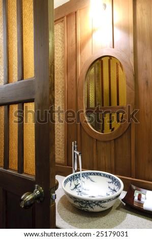 oriental washbasin - stock photo