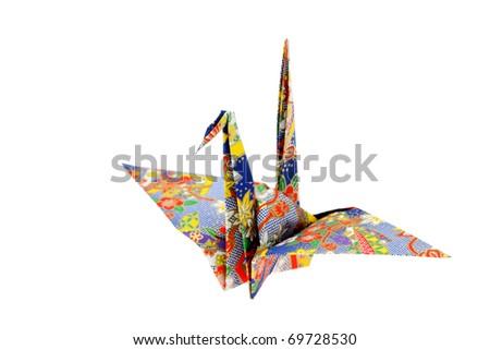 Origami bird - stock photo