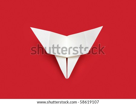Origami butterfly - stock photo